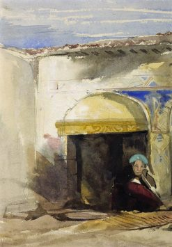 A Near Eastern Court | William James Muller | Oil Painting