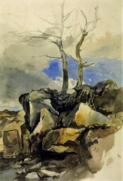 Rocks and Trees | William James Muller | Oil Painting