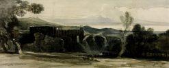 Tivoli: Villa of Maecenas from the North   William James Muller   Oil Painting