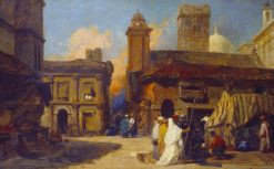 View of Bologna: Capriccio with Eastern Figures | William James Muller | Oil Painting