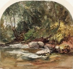 Lynmouth: The River Bank | William James Muller | Oil Painting