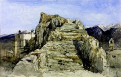 Lycia: The Rocky Stair at Tlos | William James Muller | Oil Painting