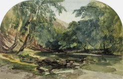 Lynmouth: A Bend of the River | William James Muller | Oil Painting