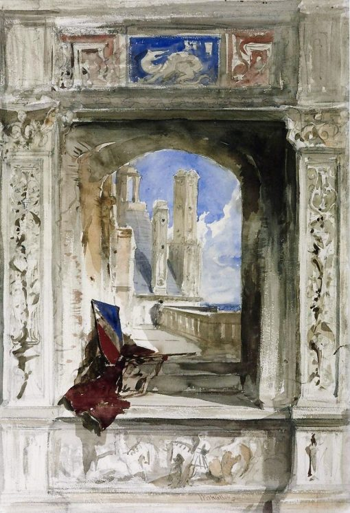 Sketch for the Frontispiece to the 'Age of Francis I' | William James Muller | Oil Painting