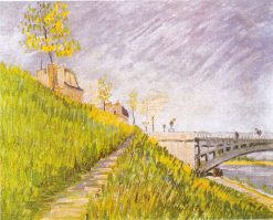Banks of the Seine with the Pont de Clichy | Vincent van Gogh | Oil Painting