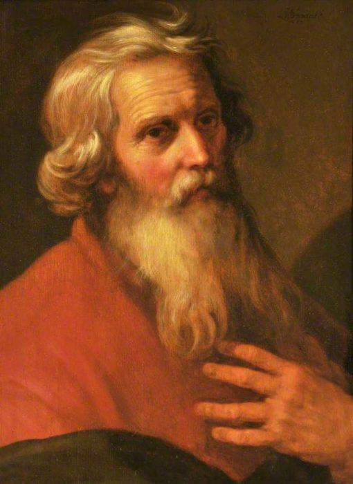 Head of an Old Man   Abraham Bloemaert   Oil Painting