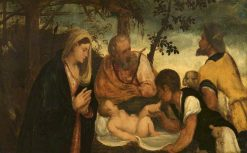 The Adoration of the Shepherds | Andrea Schiavone | Oil Painting