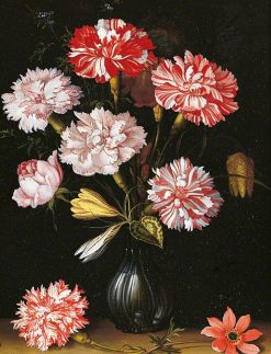 Carnations in a Vase | Balthasar van der Ast | Oil Painting