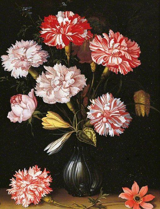 Carnations in a Vase | Balthasar van der Ast | Oil Painting