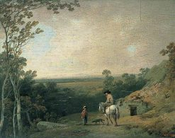 Landscape with Figures | Julius Caesar Ibbetson | Oil Painting