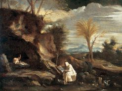 Rocky Landscape with Two Carthusian Monks | Pier Francesco Mola | Oil Painting
