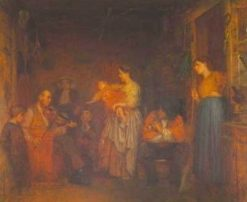 Fiddling His Way | Eastman Johnson | Oil Painting