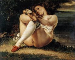 Woman with White Stockings | Gustave Courbet | Oil Painting