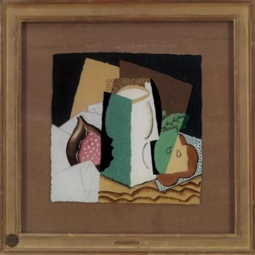 Glass and Fruit   Louis Marcoussis   Oil Painting