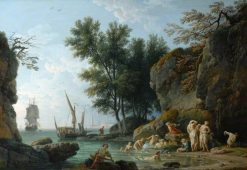 Nymphs Bathing in the Morning | Claude Joseph Vernet | Oil Painting