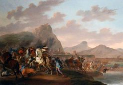 A Battle Between Christians and Moors | Jan van Huchtenburgh | Oil Painting