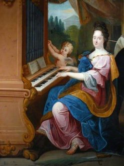 Madame de Maintenon as Saint Cecilia and a Boy | Jean Jouvenet | Oil Painting