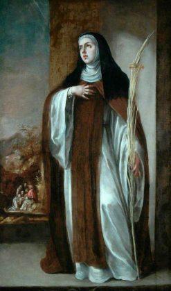 Saint Eustochium | Juan de ValdEs Leal | Oil Painting