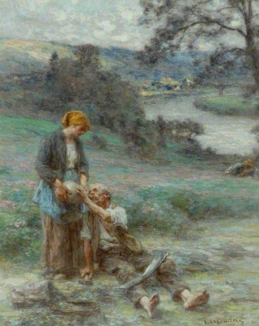 Le repos du faucheur (The Reaper's Rest)   LEon Augustin Lhermitte   Oil Painting