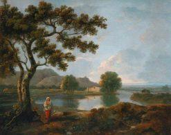 River Scene with a Farmhouse | Richard Wilson
