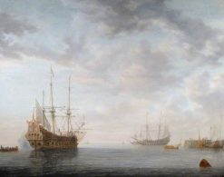 Dutch Men-of-War at Anchor | Simon de Vlieger | Oil Painting