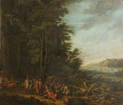 Military Encampment   Hippolyte Berteaux   Oil Painting
