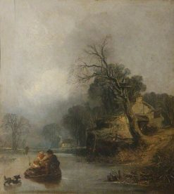 Winter Landscape with Figures   William James Muller   Oil Painting