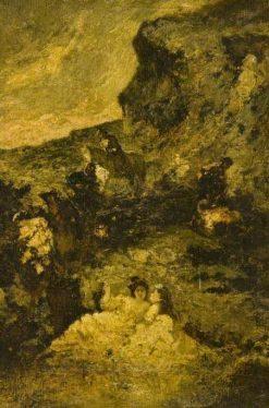 The Ravine | Adolphe Joseph Thomas Monticelli | Oil Painting