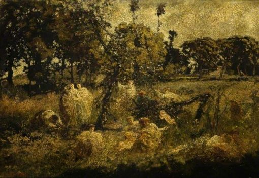 Autumn in the Field | Adolphe Joseph Thomas Monticelli | Oil Painting