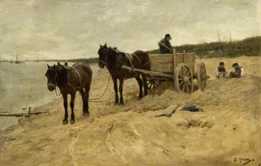 Carting Sand | Anton Mauve | Oil Painting