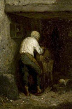 The Knife Grinder | Charles Emile Jacque | Oil Painting