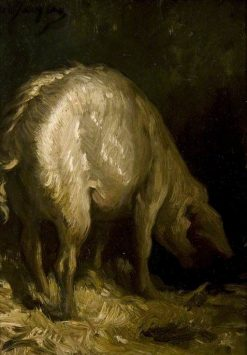 The Pig | Charles Emile Jacque | Oil Painting