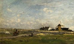 Landscape with a Mill | Charles Francois Daubigny | Oil Painting