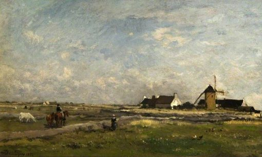 Landscape with a Mill   Charles Francois Daubigny   Oil Painting