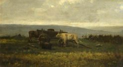 Landscape with Cattle | Charles Francois Daubigny | Oil Painting