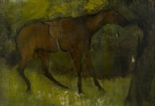 Horse Tied to a Tree | Edgar Degas | Oil Painting