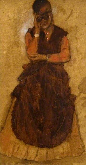Girl Looking through Field Glasses | Edgar Degas | Oil Painting