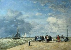The Jetty at Trouville | Eugene Louis Boudin | Oil Painting