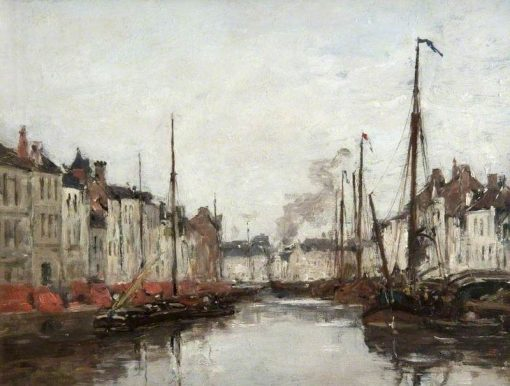 A Dutch Canal | Eugene Louis Boudin | Oil Painting