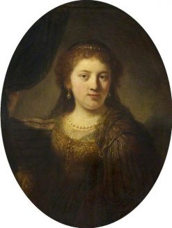 Portrait of a Woman (possibly Saskia Uylenburgh) | Govaert Flinck | Oil Painting