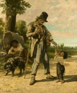 The Charity of a Beggar at Ornans | Gustave Courbet | Oil Painting
