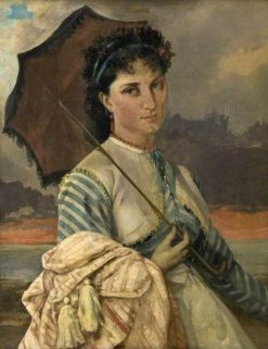 Woman with a Parasol | Gustave Courbet | Oil Painting