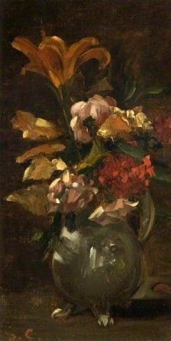 Lilly and Gillyflower | Gustave Courbet | Oil Painting