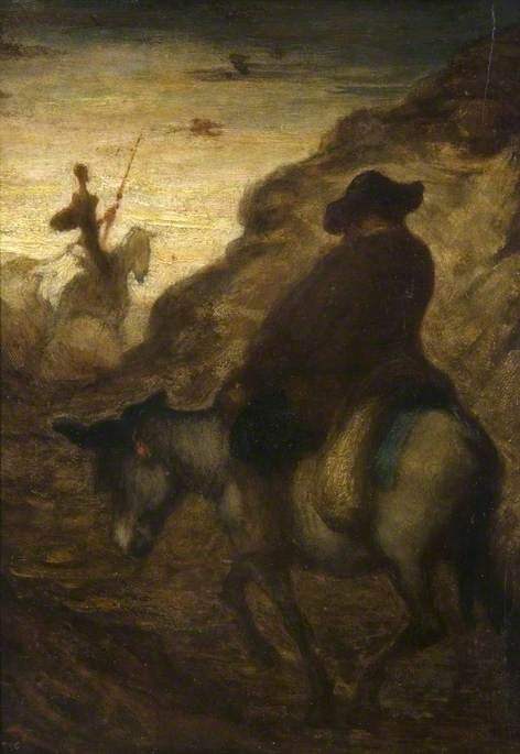 Don Quixote and Sancho Panzo | HonorE Daumier | Oil Painting