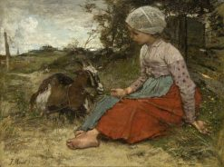 The Pet Goat | Jacob Maris | Oil Painting