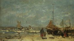 The Stranded Boat | Jacob Maris | Oil Painting