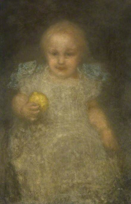 Child with a Lemon: Barye Swan | Matthijs Maris | Oil Painting