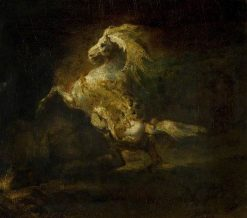 The Prancing Grey Horse | ThEodore GEricault | Oil Painting