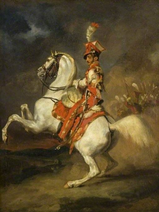 The Trumpeter of the Lancers of the Guard   ThEodore GEricault   Oil Painting