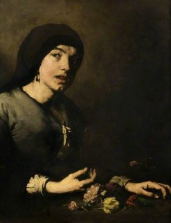 The Flower Girl | ThEodule Augustin Ribot | Oil Painting